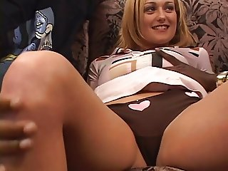 Blonde chick share by 2 black cocks