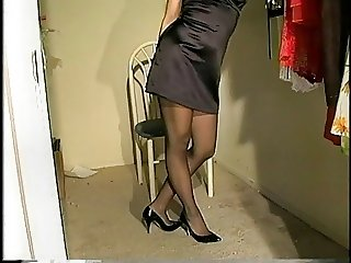 Getting Dressed in  Pantyhose