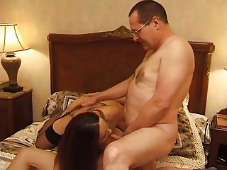 FRENCH OLD MAN AND TEEN anal for french brunette