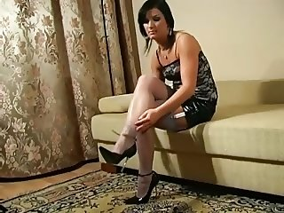Ada - stockings high heel tease