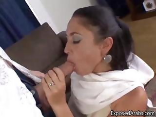 Filthy Arab girl loves sucking on some part4