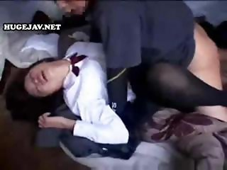 Brutal banging of a young schoolgirl bimbo by an older man