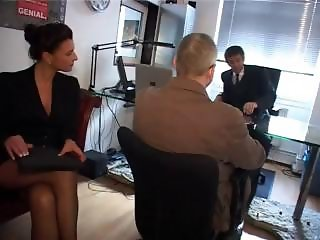 Sexy redheaded secretary gets hammered in her ass in the office