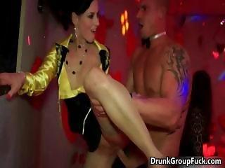 Drunk crazy women sucking big cock part5