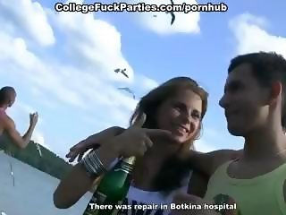 Extremely wild orgy with drunk college girls