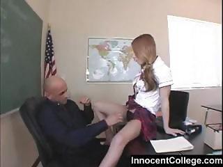 Math teacher teaches her student cock