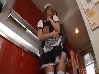 Upskirt pussy fingering with asian