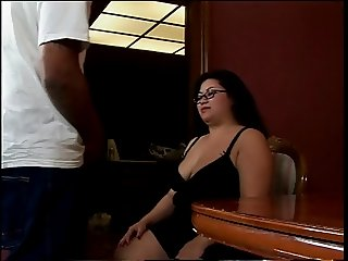 Horse godmother cock sucker loves to get on her knees and suck out a jizz load