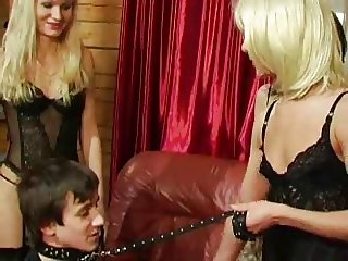 three mistress and two slaves feminization