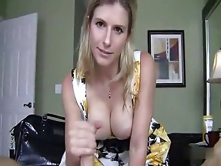 Hot mom handjob