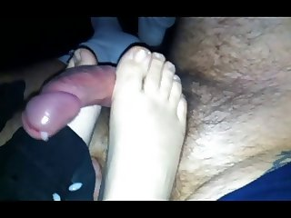 footjob of my wife 2