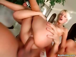 Sexy blonde babe ride an hard cock part6