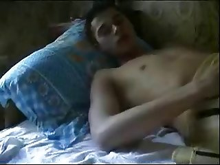 Amateur rus Young son's friend and MOM  - NV