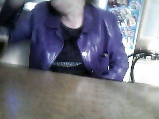 footjob in the restaurant