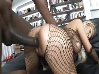 Blonde whore fucks BBC