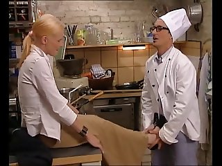 Hot Italian Blonde Fucked in Kitchen