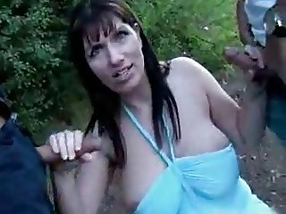 Bigtit outdoor blowjob