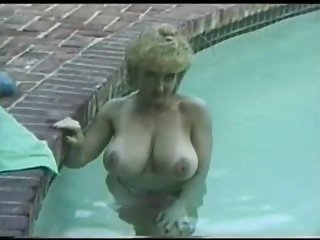 Busty Danni Ashe in the pool