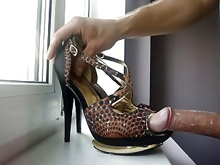 Fucking gold shoes