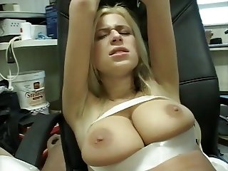 Blonde Bitch Bound and Fucked by her boss