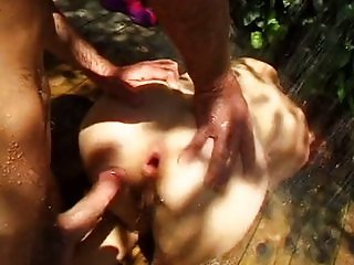 Anal outdoor with cute Eva Moore