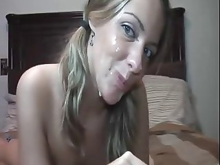 Christine fucking and facial