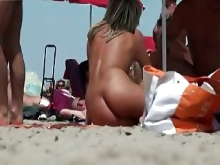 Hot Milf on Nudist Beach By TROC