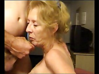 Granny hot suck dick and cum