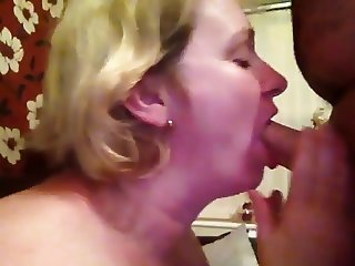 Brit Wife Gags On Hubby's Boss's Cum