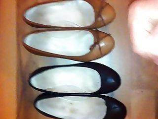 Tante die Schuhe vollgespritzt - Cum in shoes