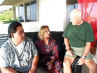 Mature blonde wife gets ass fucked in front of her husband