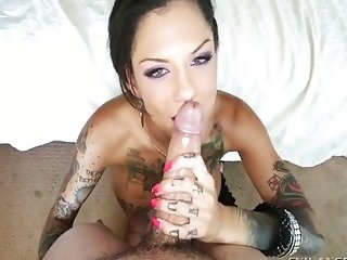 Tattoo - Bonnie Rotten POV Blowjob