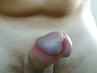 Milking Myself - Shaved Cock & Big Cumshot