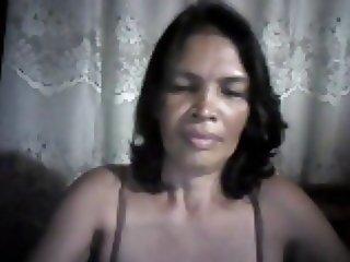 FILIPINA MOM LUCIA APAN 52 FROM CEBU TOUCHING HER BODY