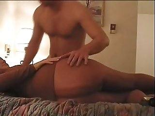 pantyhose sex babe sucks and fucks cums on me pt2