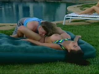 Pool Party Anal Threesome Fun