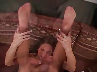 savannah in high heels footjob