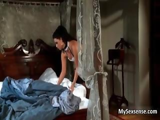 Stunning maid in black stockings loves part4