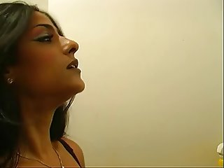 Hot looking mistress Delilah fooling around with her slave guy