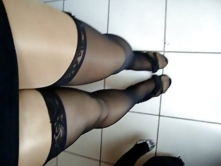 Shiny Pantyhose Crossdresser #6