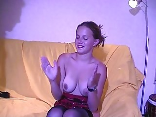 Amandine french redhead gets fucked hard