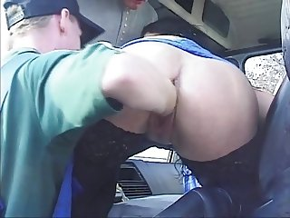 Busty Hungarian Fisting-Slut for Trucker-Fun
