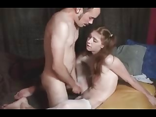 Shaved femboy squirts sperm