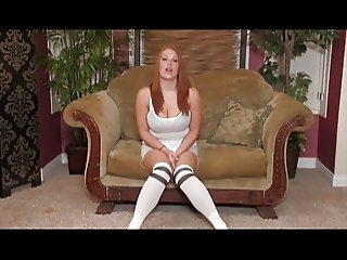 Monster Tit Redhead Sierra Rubs Her Hairy Muff
