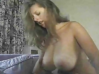 Hot busty fucked on sofa