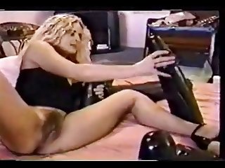Bizarre Samantha dildo insertion pussy play 3