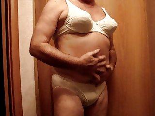 crossdresser in lingerie