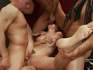 Brutal BDSM Double Penetration Gangbang! vol.35 By: FTW88