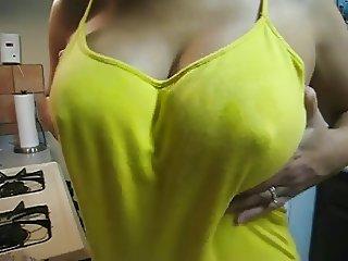 My ex wife's big lactating nipples