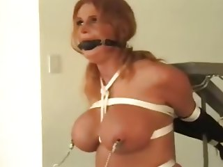 Busty Redhead Babe in Bondage pt. 2